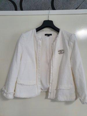 Comma Tweed blazer wit