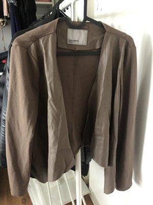 Vero Moda Leren blazer grijs-bruin