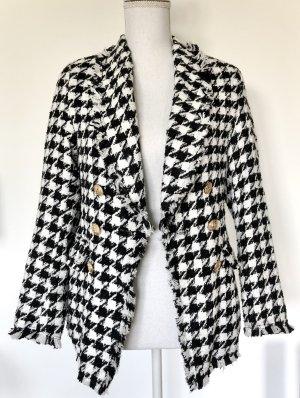 Blazer de lana negro-blanco