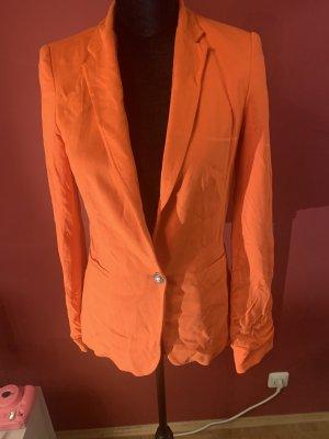 Zara Basic Jersey Blazer naranja oscuro