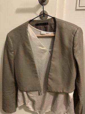 Zara Blazer in pelle grigio