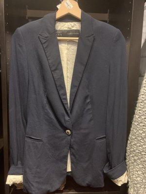 Zara Basic Blazer in jersey blu scuro