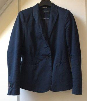Blazer Zara Basic Navy Dunkelblau Knopf Tailliert Elegant