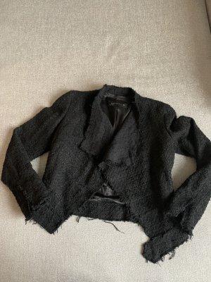 Zara Blazer Tweed negro