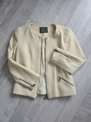 Zara Tweed Blazer gold-colored-natural white