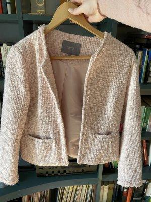 B.young Blazer in tweed rosa chiaro