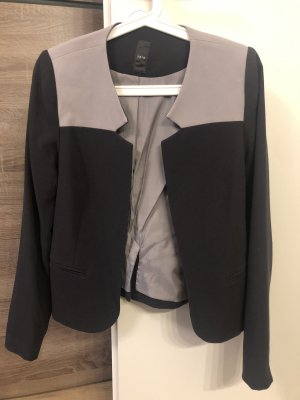 Zero Jersey blazer donkergrijs-lichtgrijs