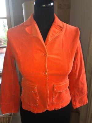 Blazer en jean orange fluo