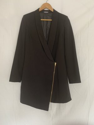 Missguided Robe manteau noir-doré