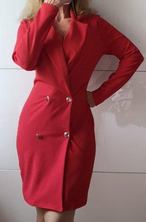 Boohoo Robe manteau rouge brique
