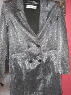 Ivyrevel Gabardina tipo vestido color plata