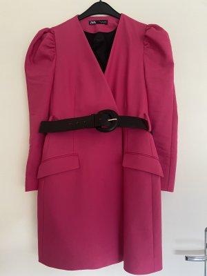 Blazerkleid in pink ZARA Gr. M mit Gürtel