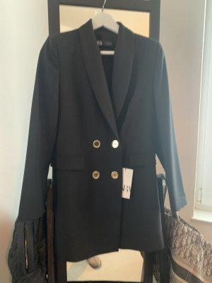 Zara Lange blazer zwart
