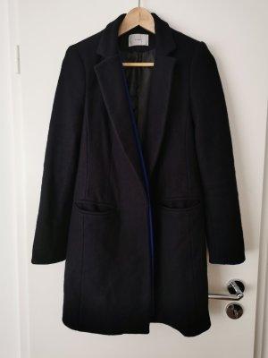 Manteau court noir tissu mixte
