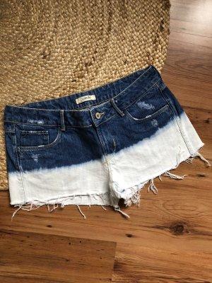 Bleached Hotpants aus Jeans