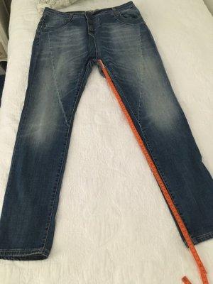 Please Jeans a vita alta azzurro Cotone