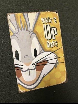 Blechschild Retro vintage blogger bugs bunny wand Bild Bilder deko wohnen sammeln