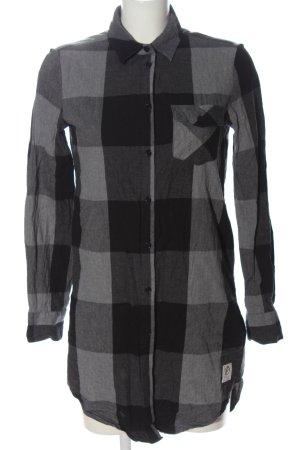 Bleed Abito blusa camicia nero-grigio chiaro motivo a quadri stile professionale