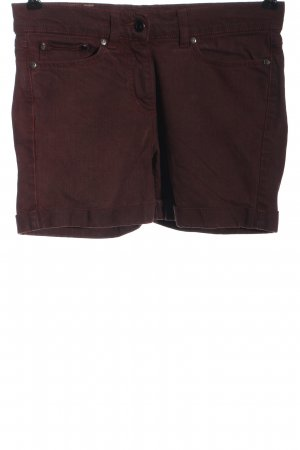 Bleed Denim Shorts red casual look