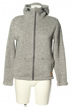 Bleed Giacca con cappuccio grigio chiaro puntinato stile casual