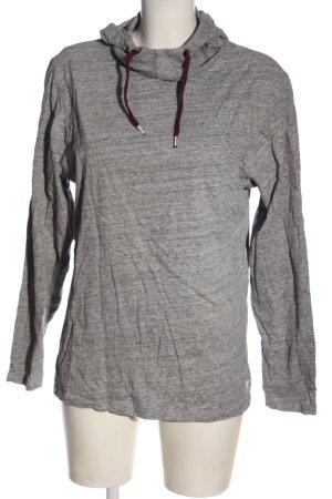 Bleed Felpa con cappuccio grigio chiaro puntinato stile casual