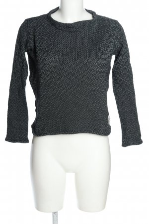 Bleed Knitted Sweater black-turquoise flecked casual look