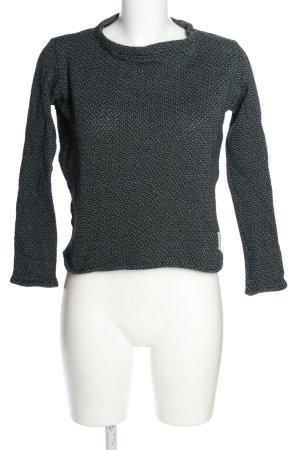 Bleed Pull tricoté noir-turquoise moucheté style décontracté