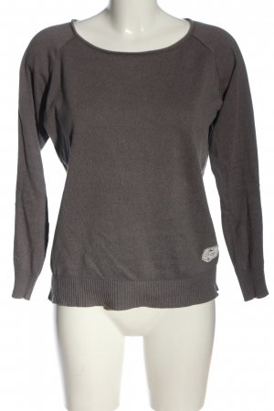 Bleed Knitted Sweater brown flecked casual look