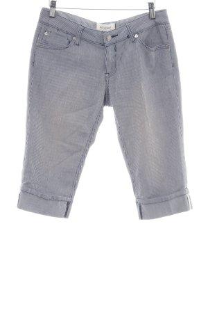 Bleifrei 3/4 Jeans blau-weiß Streifenmuster Casual-Look