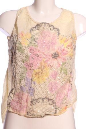 Bleifrei Mouwloze blouse Patroon-mengeling casual uitstraling