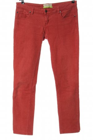 Bleifrei Corduroy Trousers red casual look
