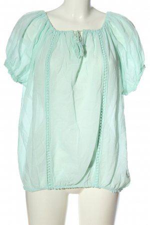 Bleifrei Short Sleeved Blouse turquoise casual look