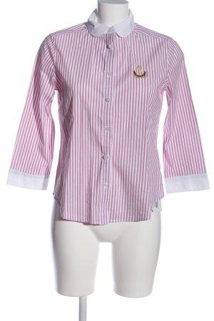 Bleifrei Shirt met lange mouwen roze-wit geborduurde letters casual uitstraling