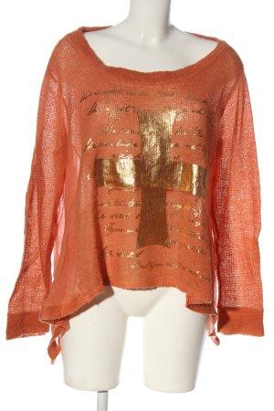 Bleifrei Oversized trui rood-brons prints met een thema casual uitstraling