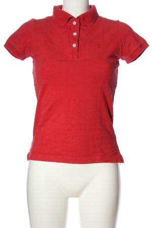 Bleifrei Polo shirt rood geborduurde letters casual uitstraling