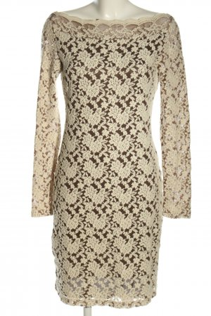 Bleifrei Kanten jurk room-bruin zakelijke stijl