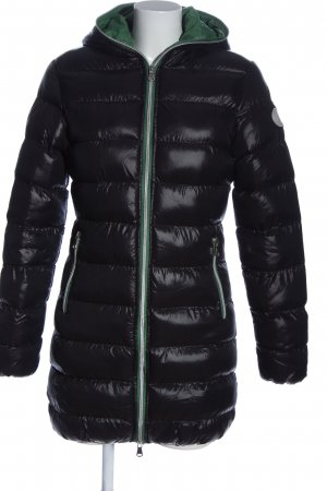 Bleifrei Pikowana kurtka czarny Pikowany wzór W stylu casual
