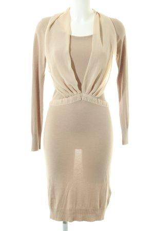 Bleifrei Vestido tejido crema-color oro elegante