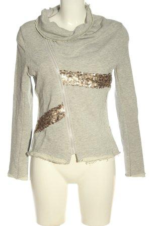 Bleifrei Sweat Shirt light grey flecked casual look