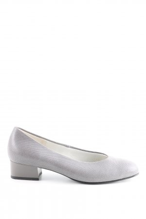 Bleil Patent Leather Ballerinas light grey allover print business style