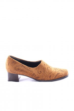 Bleil Loafers light orange-brown allover print business style