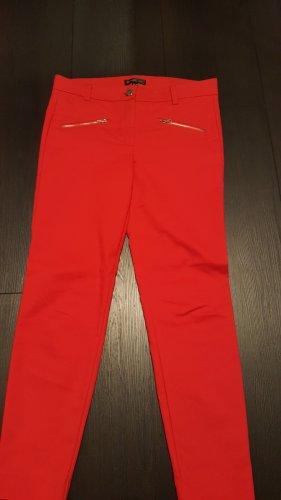 Mango Stoffen broek rood Polyester