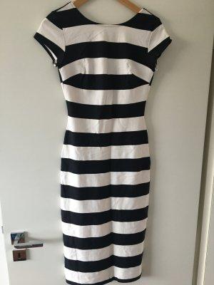 Trf by Zara Vestido de tubo blanco-negro Viscosa