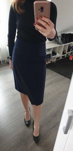 Zara Jupe crayon noir-bleu foncé