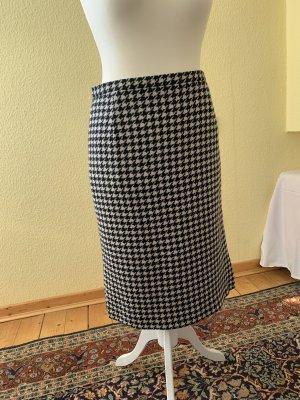 Hammer Pencil Skirt white-black wool