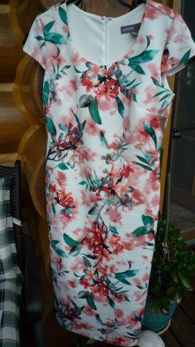 Bleistiftkleid Bodycon Scuba-Kleid florales Muster Gr. 36/38 (bitte Maße beachten!)