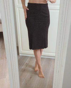 Zara Jupe à godet brun-brun foncé