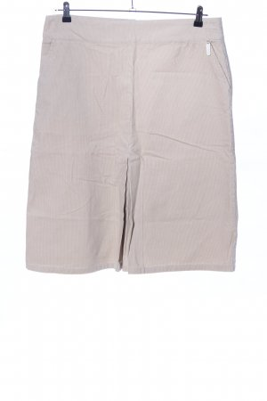 Falda de tubo blanco puro estampado a rayas look casual