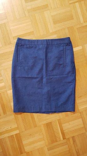 H&M Falda de tubo azul oscuro-azul
