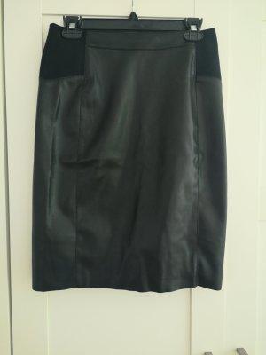 Vero Moda Spódnica z imitacji skóry czarny